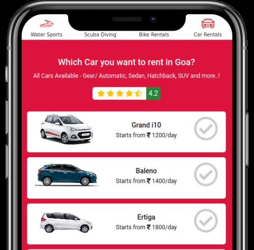 Step One - Choose Car & Location
